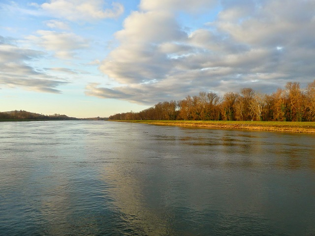 sunny day on the Rhine River
