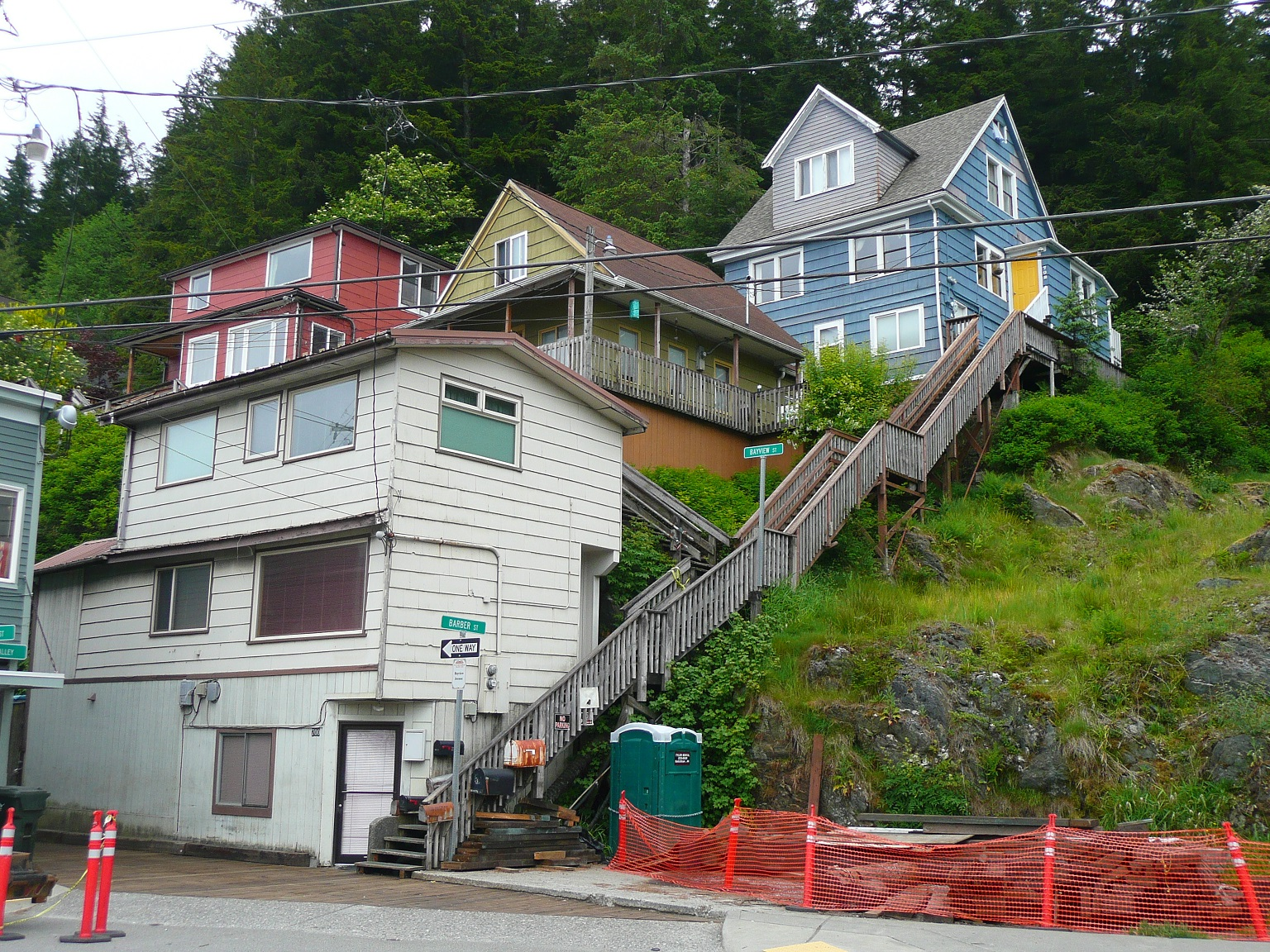 Ketchikan town, stairways are streets