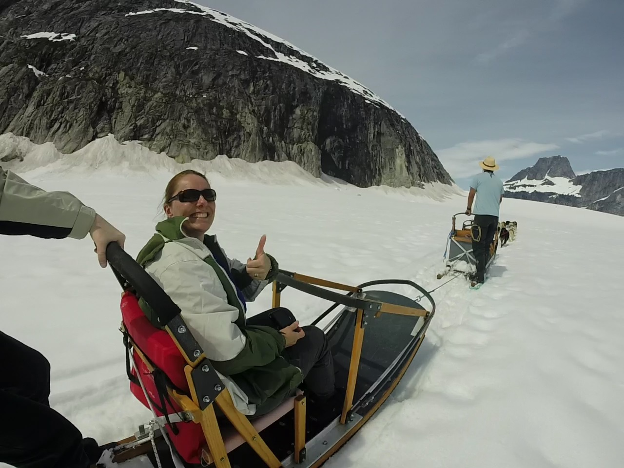 dogsledding on Norris Glacier