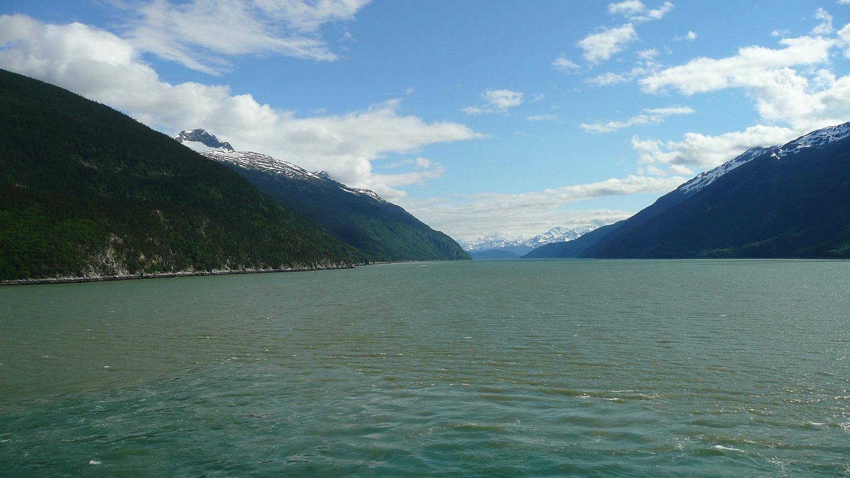 mountains in Taiya Inlet by Skagway Alaska