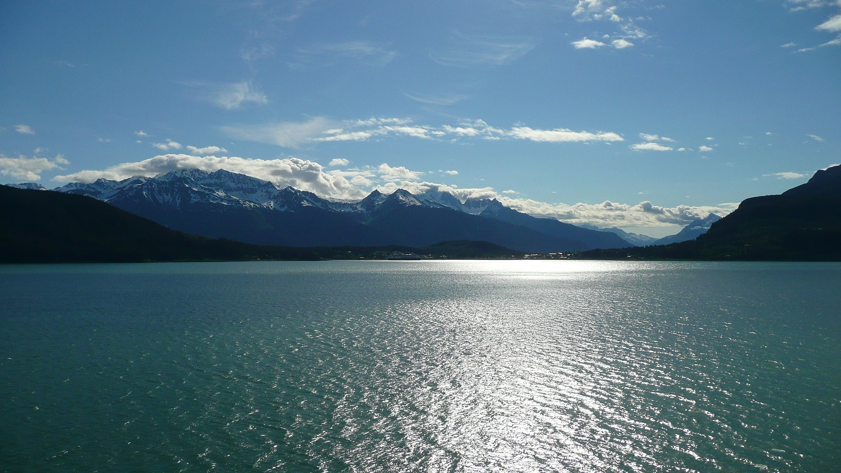 mountains above Haines Alaska from Taiya Inlet