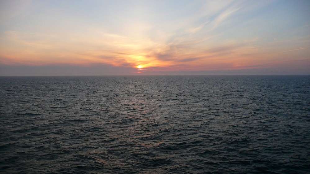 sunset in Alaskan waters