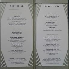 Celebrity Millennium menus